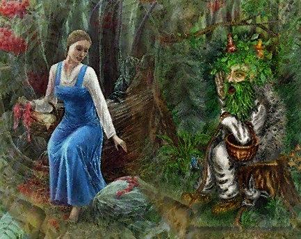 За кого воюет леший. Лес как будто сам расступался и дорогу показывал, тропинка звериная вывела на небольшую полянку, будто островок среди темного леса, ягод на ней усыпано, а среди них девушка лежит.<br />